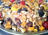 Dried fruit and nuts torte
