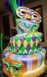 #Mardi Gras Cake