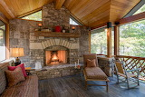 Rustic Mountain Cottage Interior
