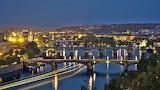 Bridges on the Vltava, Prague, Czech Republic