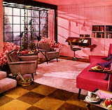 1950's Pink Living Room