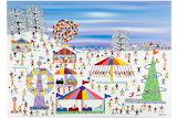 ^ Fairground in the Snow ~ Gordon Barker