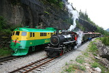 Today and Yesterday Trains Skagway Alaska USA
