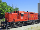 Alco RS-3. Engine and long hood by EMD.
