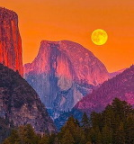 HalfDomeMoon Yosemite