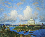 Autumn in Pskov by Konstantin Gorbatov