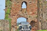 Tutbury Castle wedding car