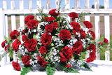 ^ Red Carnation arrangement