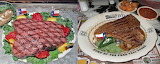 The Big Texan Steak Before n After
