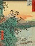 "Landscape tumblr ashmoleanmuseum ""Coastline at Satta"" Hiroshige"