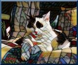 First Spring Caturday Art