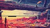 fantasy cityscape Sci-fi scene