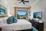 Tropical Master Bedroom with Oceanview