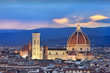 Blue hour cathedral Florence Italy