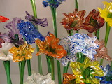^ Handblown glass flowers