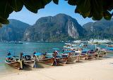 Boats at Phi Phi Island