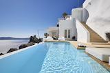 Luxury Santorini cliff top villa and pool