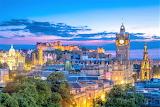 Edinburgh Scotland night skyline