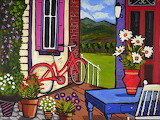 red bicycle, Alain Bédard