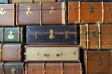 stacking old suitcase