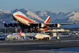 Boeing 747 cargo planes at Anchorage, Alaska