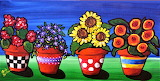 #Colorful Pots Of Flowers by Renie Britenbucher