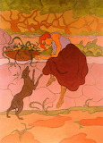 Woman With Jumping Dog. Paul Ranson 1895