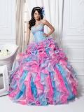 Bead Applique Princess Quinceanera Dress