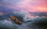 Ivan Aivazovsky - The Shipwreck, 1884