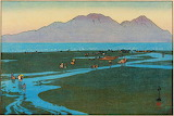 """Landscape tumblr dogstardreaming Unzendake """"Hiroshi Yoshida"""" 192"""