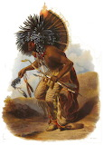 Moennitarri warrior in the costume of the dog danse 2