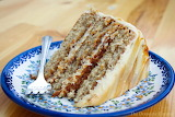 ^ Salted caramel layer cake slice