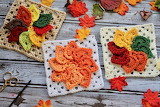 ^ Granny Square Fall Leaves