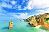 Colorful Coastal Lands End Algarve Portugal