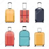 Illustration-travel-luggage-or-suitcase-icons