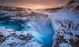 The waterfallb Gullfoss Iceland