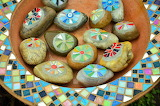 Various small 179 colourful stones