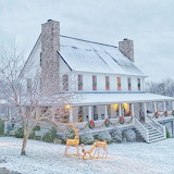 ^ Farmhouse during the holiday