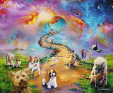 Where our beloved animals go-painting by Jim Warren-Rainbow ...