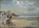 Amélie Lundahl, Plage, 1882