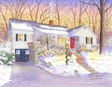 Winter House by Leisa Collins...