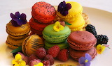Fruit and Macarons