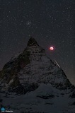 "Space APOD ""Matterhorn, Moon, Meteor"" ""© Stephane Vetter (Nuits"