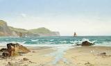 David James, Low Tide, the Cornish Coast, 1887