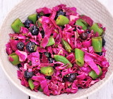 #Blueberry Red Cabbage Salad