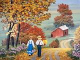 Autumn flower picking - John Sloane