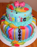 Colorful cake @ Cake Central
