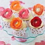 Ranunculas cupcakes