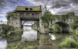 The Old Mill On Medieval Bridge, Vernon Normandy