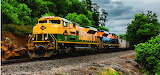 Diesel Locomotive Reading Lines Train